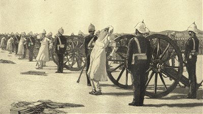 Indian Soldiers Being Executed by British Canons
