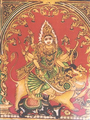 Goddess Durga Punishing the Demon