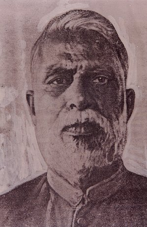 Portrait of D.D. Kosambi, a great Sanskrit and Budhist Scholar