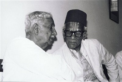 The Big Two - Kuvempu and Masti at a function remembering B.M.Srikanthaiah