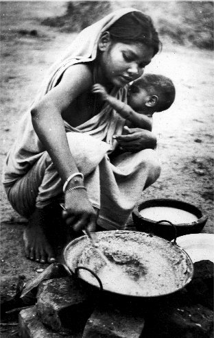 A refugee from Bangladesh, West Bengal, 1969