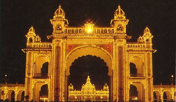 The Illuminated Mysore Palace