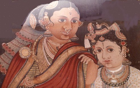 Yashodha and boy Krishna