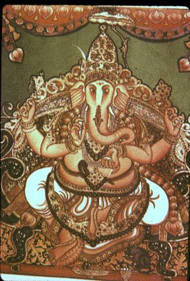 Lord Ganesh From a Mysore Painting