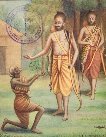 Shabari Offers Berries to Rama