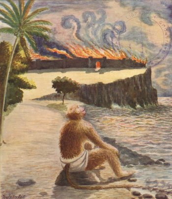 Hanuman Watches Lanka Burn