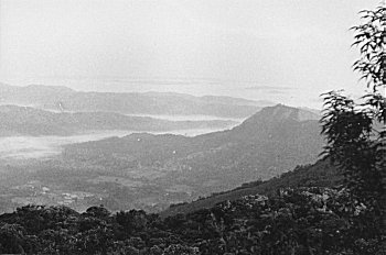 View of the Western  (Sahyadri) Ghats and River