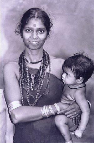 Halakki Tribal Woman and Her Child
