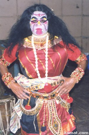 Man Dressed as the Mythological Character of Shurpanakhi