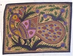 Peacock in a Folk Painting
