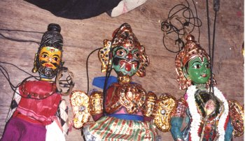 String Puppets during a performance