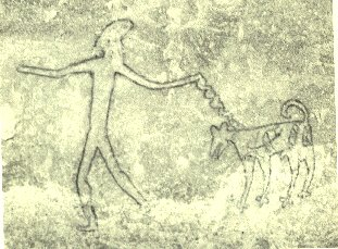 Prehistoric rock painting