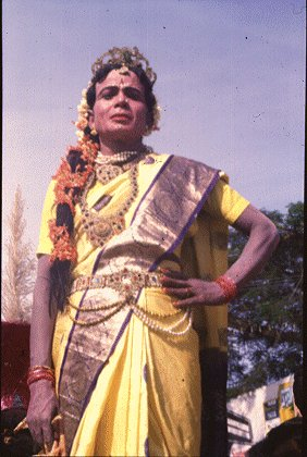 Folk Artist Dressed in a Sari