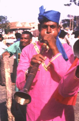Man Blows Nagaswaram Horn