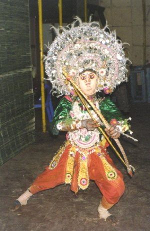 Folk Dancer from Bengal Performing the Chhau Dance
