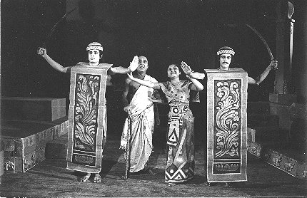A Scene From Bengali Theater