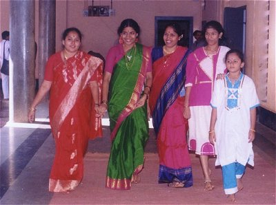 Girls Arriving for a Wedding