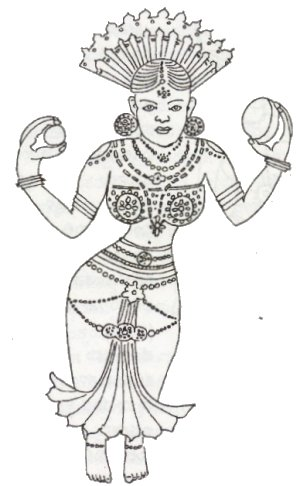 Depiction of a Sati in a Hero-stone