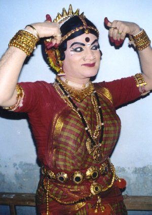 Man Dressed as a Woman for a Dance Performance