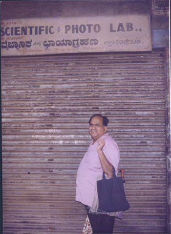 Kamat in Front of his Scientific Photo Lab.