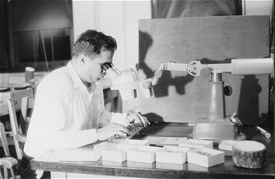 K. L. Kamat in His Lab.