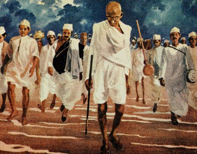 The Dandi March to Make Salt