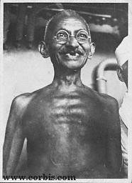 Simplicity personified : Gandhi from Corbis Archives