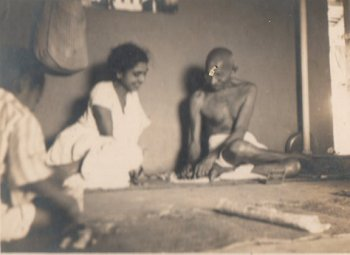 Gandhi with a Lady Companion
