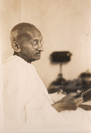Thoughtful Gandhi