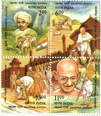 Stamp of Gandhi`s Achievements
