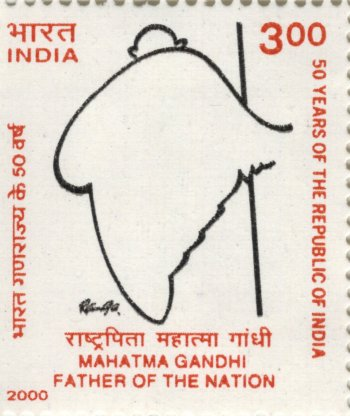 """Gandhi as India"" -- Gandhi as Father of the Nation"