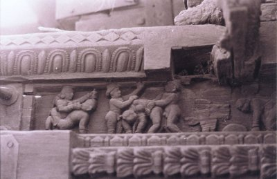 Erotic Carving on Chariot Panel