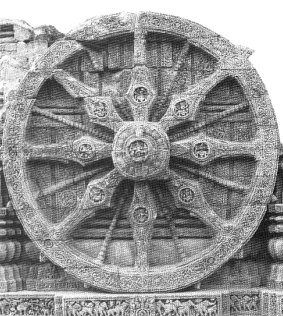 Wheel of the Sun Temple in Konark