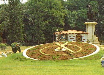 The Floral Clock at Lal Bagh