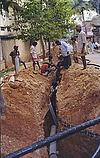 Men Laying Cable