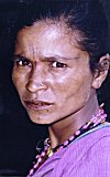 Tribal Woman with Betel Stained Mouth