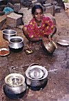 Girl Shining the Vessels