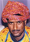 Colorful Attire of a Rajasthani Man