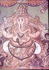 Ganesh in Mysore Traditional Style Painting