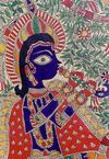 Krishna in a Folk Painting