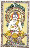 Lord Buddha in a Orissan Pata Painting