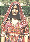 A bedecked Lambani woman