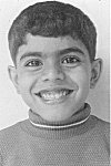 A smiling young boy