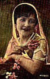 Indian woman: from a 1940 picture postcard