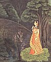 Solitary girl – miniature painting