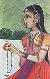 A girl with necklace
