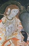 Shiva with parvati in painting