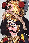Portrait of a Yakshagana performer