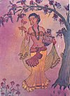 The water girl – water color painting by K. L. Kamat