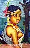 Fabric Painting Featuring a Tribal Girl
